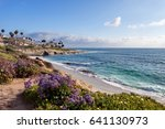 la jolla at sunset   southern... | Shutterstock . vector #641130973