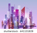 abstract modern night city... | Shutterstock . vector #641131828