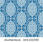 vector damask seamless pattern... | Shutterstock .eps vector #641132350
