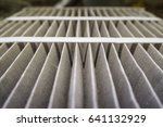 close up of dirty car air filter   Shutterstock . vector #641132929