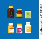 vector vitamin b product... | Shutterstock .eps vector #641133346