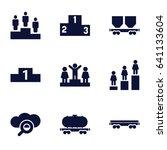 platform icons set. set of 9... | Shutterstock .eps vector #641133604