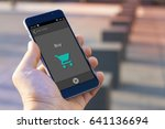 pay online concept. pay with... | Shutterstock . vector #641136694