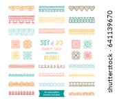 Vector Set Of 20 Sketch Lace...