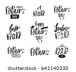 happy father s day lettering... | Shutterstock .eps vector #641140330