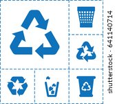reuse icon. set of 6 reuse...   Shutterstock .eps vector #641140714