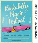 rockabilly music festival... | Shutterstock .eps vector #641141380