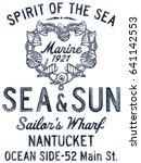spirit of the sea shell  vector ... | Shutterstock .eps vector #641142553