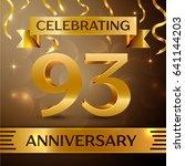 ninety three years anniversary...   Shutterstock .eps vector #641144203