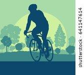 bicycle man sport vector... | Shutterstock .eps vector #641147614