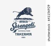 african lion  serengeti...   Shutterstock . vector #641156929