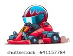 cartoon go kart racer | Shutterstock .eps vector #641157784