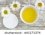 small white bowl with cosmetic... | Shutterstock . vector #641171374