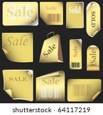 Gold Stickers And Tags Set Wit...