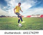 asian boy teenager playing... | Shutterstock . vector #641174299