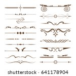 ornamental dividers set. | Shutterstock . vector #641178904
