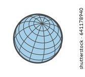 isolated globe icon.
