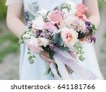 wedding bouquet  flowers in... | Shutterstock . vector #641181766