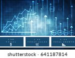 2d rendering stock market...   Shutterstock . vector #641187814
