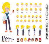 vector business woman character ... | Shutterstock .eps vector #641189860