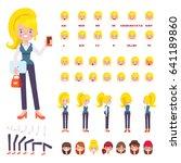 vector business woman character ... | Shutterstock .eps vector #641189860