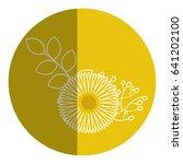 beautiful sunflower decoration... | Shutterstock .eps vector #641202100