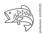drawing fish  vector | Shutterstock .eps vector #641205190