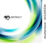 smooth wave template. abstract... | Shutterstock .eps vector #641205334
