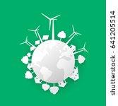 clean energy  vector | Shutterstock .eps vector #641205514