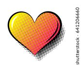 heart comics style vector   Shutterstock .eps vector #641206660