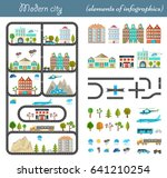 elements of the modern city.... | Shutterstock . vector #641210254