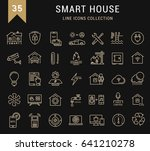 set line icons with open path... | Shutterstock . vector #641210278