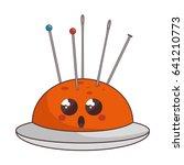 sewing pincushion comic... | Shutterstock .eps vector #641210773