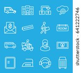 service icons set. set of 16... | Shutterstock .eps vector #641222746