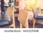 empty chair in cafe shop....   Shutterstock . vector #641225308