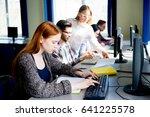 girl in a computer class   Shutterstock . vector #641225578
