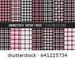 french pink  black and white... | Shutterstock .eps vector #641225734