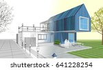 3d illustration  house sketch | Shutterstock . vector #641228254