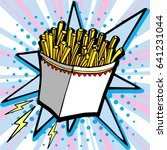 hand drawn  french fries.vector ...   Shutterstock .eps vector #641231044