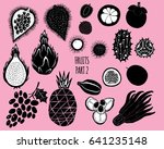 hand drawn silhouettes of...