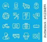 assistance icons set. set of 16 ... | Shutterstock .eps vector #641236894
