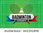 badminton tournament badge... | Shutterstock .eps vector #641241898