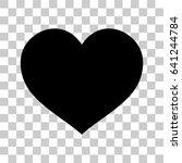 black heart isolated. vector | Shutterstock .eps vector #641244784