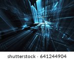 computer generated abstract... | Shutterstock . vector #641244904