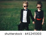 photo of young boy and girl... | Shutterstock . vector #641245303