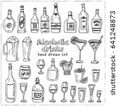 vector set with alcoholic... | Shutterstock .eps vector #641248873