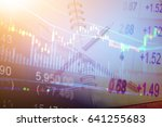 forex market background ... | Shutterstock . vector #641255683