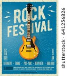 rock music festival flyer.... | Shutterstock .eps vector #641256826