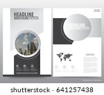 silver abstract annual report... | Shutterstock .eps vector #641257438