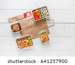 healthy daily meals delivery in ... | Shutterstock . vector #641257900